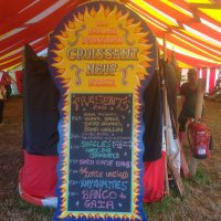 Band-line-up-venue-blackboard-Glastonbury-Festival