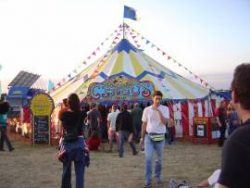 croissant-neut-outside-tent-glastonbury