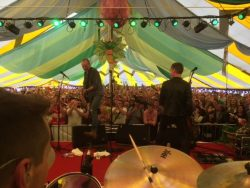 Travis-band-inside-selene-events-tent-Glastonbury