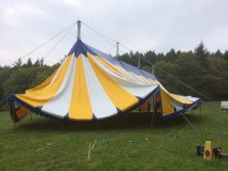 Devauden Music Festival set-up