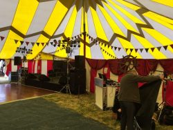Selence Big Top Stage and DJ Setup
