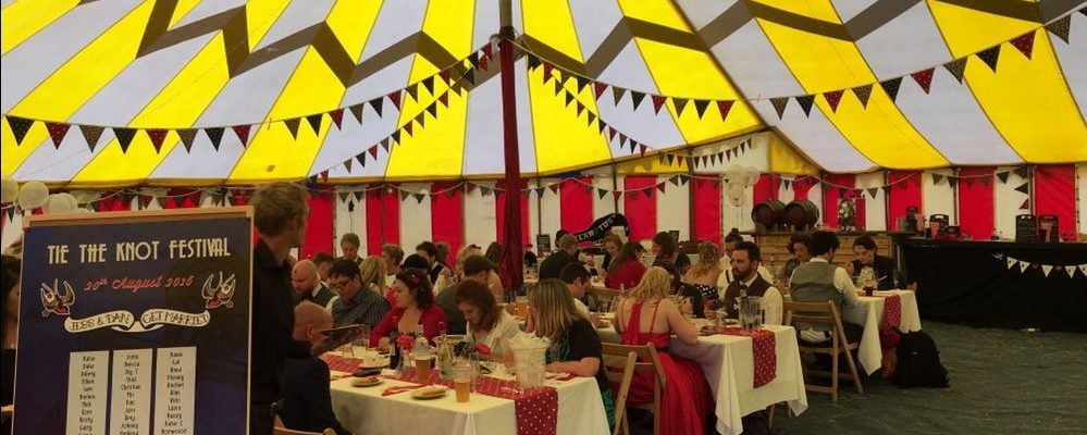 Tie The Knot Festival Dinner in Big Top